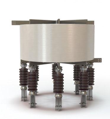 Испытание сухих токоограничивающих реакторов